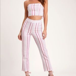 Lulu's Daria Pink Striped Set